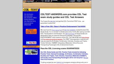 Photo of CDL TEST ANSWERS – Driver License Test questions and answers | HAZMAT ENDORSEMENT – CDL PRACTICE TEST – STUDY GUIDE FOR CDL TEST – CLASS A CLASS B PERMIT TEST