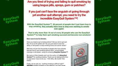 Photo of EasyQuit SystemTM – stop smoking program; learn how to quit smoking for good