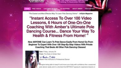 Photo of Home Pole Dancing Classes – 6 Hours of 100 Pole Dancing Videos Lessons With One-on-One Coaching