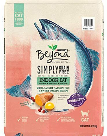 Purina Beyond Grain Free, Natural Dry Cat Food, Simply Indoor Salmon, Egg & Sweet Potato Recipe - 11 lb. Bag