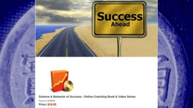 Photo of AJ FARZAD/ THE SCIENCE AND BEHAVIOR OF SUCCESS – Science & Behavior of Success Online Class